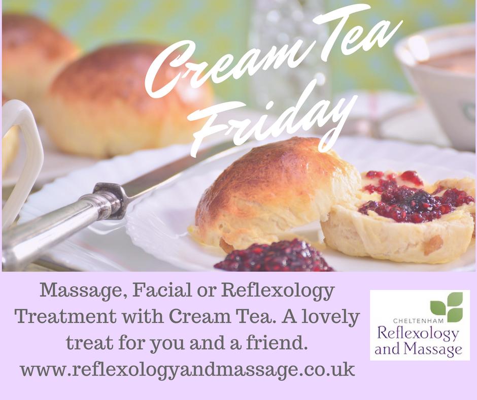 Cream Tea and Massage at Cheltenham Reflexology and Massage